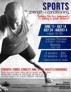 Sports strength and conditioning