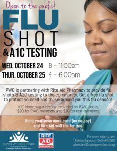 flu shots a1c testing